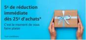 Amazon.fr: 5€ Gutschein-Code ab 25€ Bestellwert