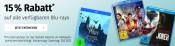 Müller.de: Sonntagsknüller – 15% auf alle verfügbaren Blu-rays