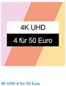 Amazon.de: 4 x 4K UHD für 50€ bzw. 4 x Blu-ray für 30€ inkl. VSK (bis 07.02.21)