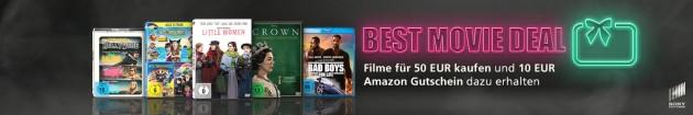 Amazon.de: Filme für 50€ kaufen und 10€ Amazon Gutschein dazu erhalten
