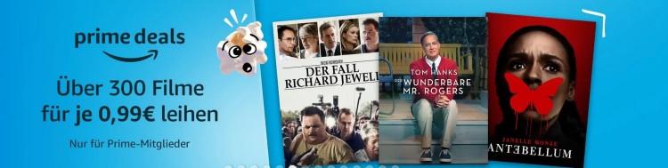 Amazon Video: Über 300 Filme leihen für je 0,99€ (Nur Prime Mitglieder)