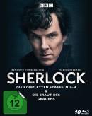 Amazon.de: Sherlock – Die kompletten Staffeln 1-4 & Die Braut des Grauens [Blu-ray] für 34,99€