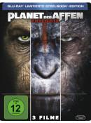 Müller.de: Planet Der Affen Trilogie (Limitierte Steelbook Edition) für 15€ inkl. VSK