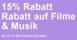 Rebuy.de: 15% Rabatt auf Filme & Musik ab 25€ MBW (nur bis 08.03.2021)