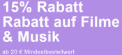 Rebuy.de: 15% Rabatt auf Filme & Musik ab 20€ MBW (nur bis 24.02.2021)