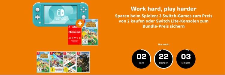 Saturn.de / MediaMarkt.de: 3 für 2 Aktion auf ausgewählte Nintendo Switch Spiele