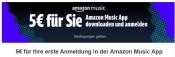 Amazon.de: 5€ Aktions-Gutschein für das erste Anmelden bei Amazon Music (App)