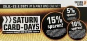 Saturn.de: Saturn Card Days 26. bis 29. August (online und im Markt)